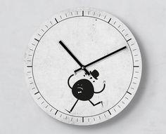 Dekostoff 140cm multicolor Zeit-Uhren