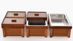 Wooden chafing dish