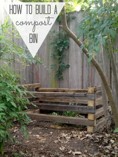How to build an (almost)-free compost bin!