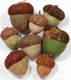 Stuffed fabric acorns