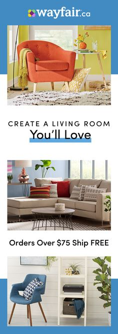 Your living room is the place where you relax, entertain, watch movies, play games and more. That is all the more reason why your living room furniture should reflect your style and meet your needs. Visit Wayfair to get access to exclusive deals everyday 21st Birthday Basket, Sister Birthday, Chalk Typography, Living Room Essentials, Vintage Industrial Furniture, Alexandra Daddario, Vintage Birds, Organic Gardening, Gardening Tips