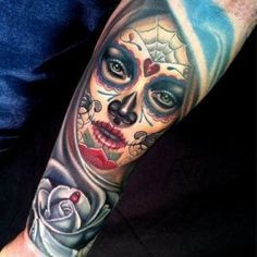 day of the dead virgin mary tattoo - Google Search