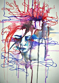 BreakPoint. When you feel in the grave but you're still living; then you've come at the breaking point.  watercolor and markers on paper. © 2013  http://isabelofshalott.deviantart.com/