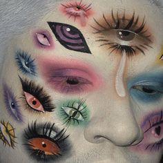 """History of eye makeup """"Eye care"""", in other words, """"eye make-up"""" has always been an Edgy Makeup, Cute Makeup, Pretty Makeup, Makeup Inspo, Makeup Looks, Weird Makeup, High Fashion Makeup, Dramatic Makeup, Mac Makeup"""