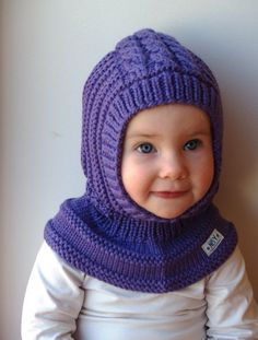 Waldorf inspired winter and snow hat. Hand knitted hoodie / balaclava hat for baby, toddler, child. Made from 100% purple merino wool. Soft and very functional - perfect to keep the little ones warm and cozy during cold days. OPTIONAL: cotton lining for extra warmth. However, the hats are really soft and warm as they are - lining might be necessary only for freezing cold weather if there is no other hood to put on. Price 12$ Moms that favor hoodie hats like them because they are: * fas...