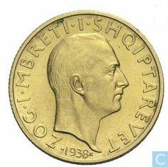 Coins - Albania - Albania 20 franga ari 1938