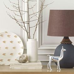 Love the Peruvian - inspired glam llama and the embellished gray lamp!