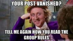 Group rules...