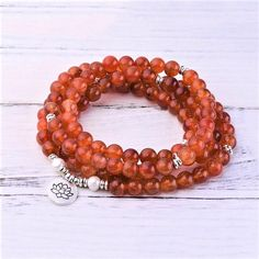 Orange Carnelian Sacral Chakra Mala #carnelian #orange #mala #meditation #108 #sacral #chakra Diy And Crafts Sewing, Diy Crafts, Hope Symbol, Sacral Chakra, Red Agate, Carnelian, Best Self, Pearl Beads, Beaded Bracelets