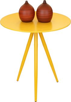 Mesa Tripé Amarela | Abra Cadabra