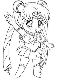 Chibi Sailor Moon Coloring Book