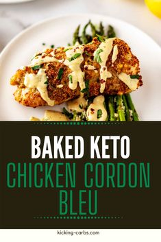 This low carb chicken recipes that you can make on the weekend for meal prep is PERFECT for my keto diet. I am so happy I found this Baked Keto Chicken Cordon Bleu. Is is easy to make and SO full of flavor. #keto #kickingcarbs #lowcarb #dinner #healthy #Chicken #recipe Low Carb Chicken Recipes, Cheesy Recipes, Keto Chicken, How To Cook Chicken, Gluten Free Recipes For Breakfast, Healthy Gluten Free Recipes, Gluten Free Dinner, Dinner Recipes, Healthy Weeknight Meals