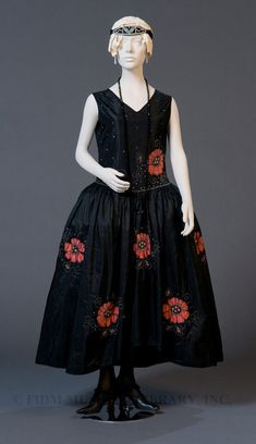 Rosalba McMillern (Designer), Robe de Style Dress of Rayon & Faux Crystals, c. 1922-1924.