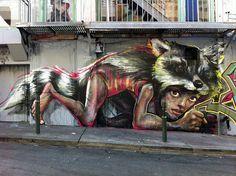 Herakut.. . #streetart. #herakut http://www.widewalls.ch/artist/herakut/