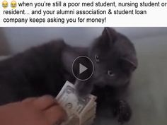 When you're still a poor medical, nursing student or resident, and your alumni associations and student loan companies keep asking you for money!