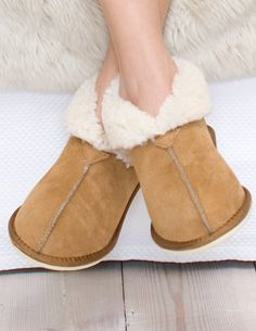 Ladies' Sheepskin Bootee Slippers, from Celtic & Co
