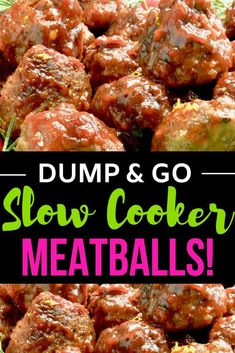Slightly spicy cranberry meatballs made in the crockpot. Super fast and will feed a large crowd of people easily. Tangy, sweet and a little heat in the sauce is the perfect Christmas or New Years Meatball for any entertaining you do! Appetizers For A Crowd, Easy Appetizer Recipes, Appetizers For Party, Meatball Appetizers, Party Recipes, Easy Party Food, Party Food And Drinks, Fast Dinners, Easy Meals