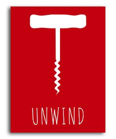 Take a look at this Red 'Unwind' Corkscrew Print on zulily today!