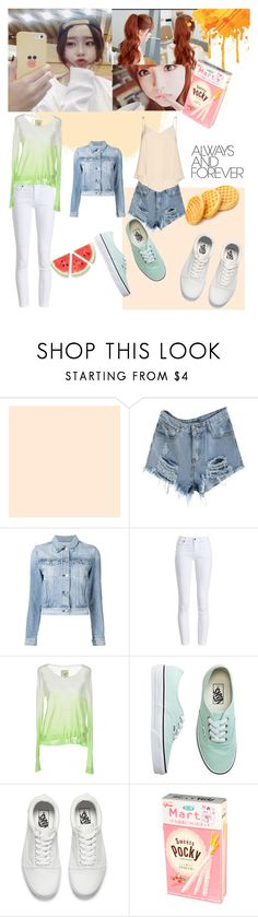 """""""Ulzzang summer orange style"""" by harumichan ❤ liked on Polyvore featuring 3x1, Barbour, Superdry, Vans, Alice + Olivia, StreetStyle, kpop, MyStyle, korean and Ulzzang"""