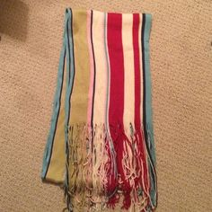 Royal Robins Super Soft Striped Multi-Color Scarf Very soft, gently warn! Beautiful colors. Some wear, look at photo to see what I mean.  I'm really happy to discount for bundles &  open to offers so feel to submit one. Thanks for shopping in my closet!! :) ❤️ Royal Robbins Accessories Scarves & Wraps