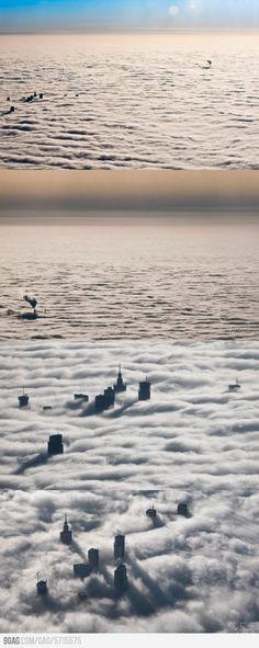 A foggy day in Warsaw