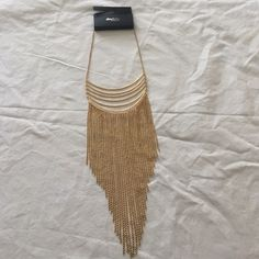 *$FINAL* Fun Long Fringe Necklace Brand new necklace from Charlotte Russe! Never worn before. Fun long fringe necklace would be perfect for a night out! No visible signs of wear, stains, or damages of any sort! Smoke free home. Charlotte Russe Jewelry Necklaces