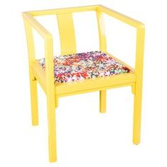 Transform your den, living room, or master suite into a sophisticated cosmopolitan retreat with this artfully crafted design.Product: ChairConstruction Material: Wood and fabricColor: YellowDimensions: 30 H x 23 W x 23 D