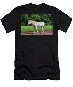 Horse Men's T-Shirt (Athletic Fit) featuring the photograph White Beauty by Cynthia Guinn