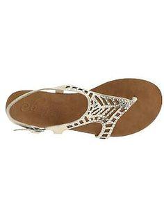 Cute silver sandals.