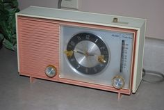Vintage Pink and Cream Sears Silvertone by AGlimpseFromthePast, $29.00