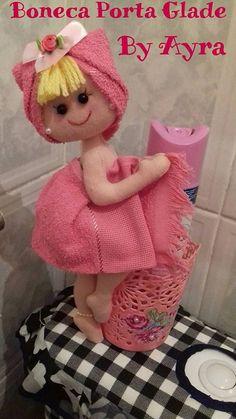 Moldes para Banheiro - sugestões lindas de enfeites de banheiro, todos com moldes para você salvar! Faça você mesmo suas peças de artesanato em feltro!