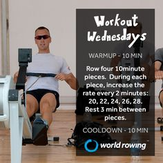Try this indoor rowing workout with World Rowing. Rowing Workout, Indoor Rowing, Wednesday Workout, Workouts, Gym, World, Memes, Fitness, Body Sculpting Workouts