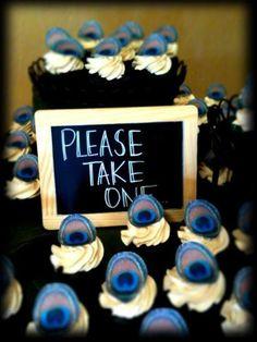Edible Peacock Eye Feathers  1 dozen  Cake & Cupcake by SugarRobot, $7.95