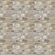 Country Stone by Arthouse - Stone - Wallpaper : Wallpaper Direct True Colors, Colours, Stone Wallpaper, Whitewash Wood, Stone Houses, Home Art, Natural Stones, Living Room Decor, Colour Match