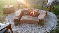 The Exterior Fire Pit Ring – Outdoor Kitchen Designs Fire Pit Ring, Diy Fire Pit, Fire Pit Backyard, Outside Fire Pits, Fire Pit Designs, Patio Heater, Outdoor Kitchen Design, Living At Home, Backyard Landscaping