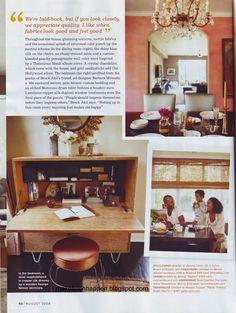 Mara Brock Akil's home in Domino magazine Aug 2008
