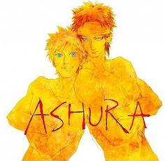 Ootsutsuki Ashura and Uzumaki Naruto. Team 8 Naruto, Naruto Art, Anime Naruto, Naruto Shippuden, Boruto, Sasunaru, Naruto Images, Naruto Pictures, I Love Anime
