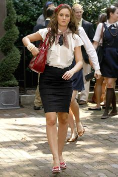 Perfect!!:   Zara blouse.  Cynthia Steffe skirt.  Cole Haan shoes.  GF Ferre bag