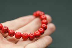 4mm Round Red #Howlite #Beads Small Red Ball by BeadsForYourJewelry, $2.20