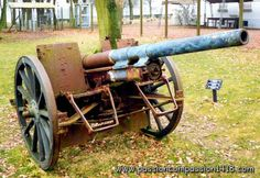 German 77mm field gun - model 1916 (lengthened tube up to 2743 mm for an initial version of 2136 mm ) ,N-D de Lorette museum in Artois