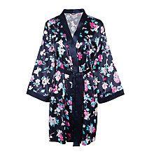 Buy John Lewis Wild Floral Kimono Robe, Navy Online at johnlewis.com