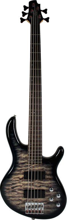 CORT ACTION DLX 5 Bass Guitar Faded Grey Sunburst