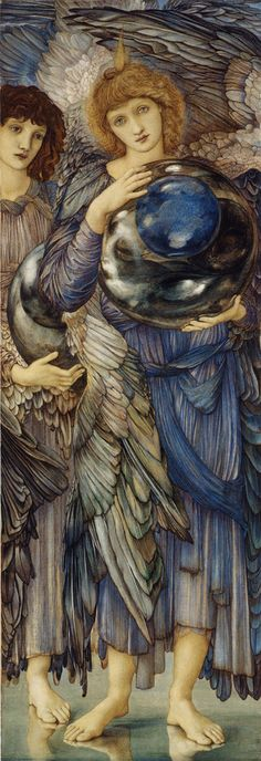 Edward Burne-Jones  (1833-1898)The Days of Creation - The Second Day  Watercolor, gouche, gold   1875-1876