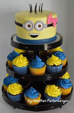 Minion Cupcake Tower girl