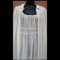Stunning 1940s Lingerie Nightgown with Peignoir Wedding Honeymoon from toinetterl on Ruby Lane