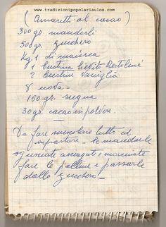 Amaretti al cacao - Le ricette di Nonna Maria - Antiche ricette siciliane