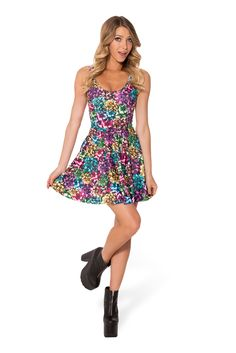 Wrapped Up Scoop Skater Dress (WW 48HR $85AUD / US - LIMITED $80USD) by Black Milk Clothing