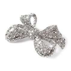 3a30333ecd4 Oversized Rhinestone Bow Hair Barrette found at claire s