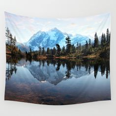 Buy Mt Shuksan by Sylvia Cook Photography as a high quality Wall Tapestry. Worldwide shipping available at Society6.com. Just one of millions of products available.