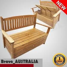 Capetown Dining 10 Seater Set Brown & White for sale online Wooden Bench Seat, Chair Bench, Garden Storage Bench, Shed Cabin, Chest Furniture, Wood Projects, Home And Garden, Dining, Sheds